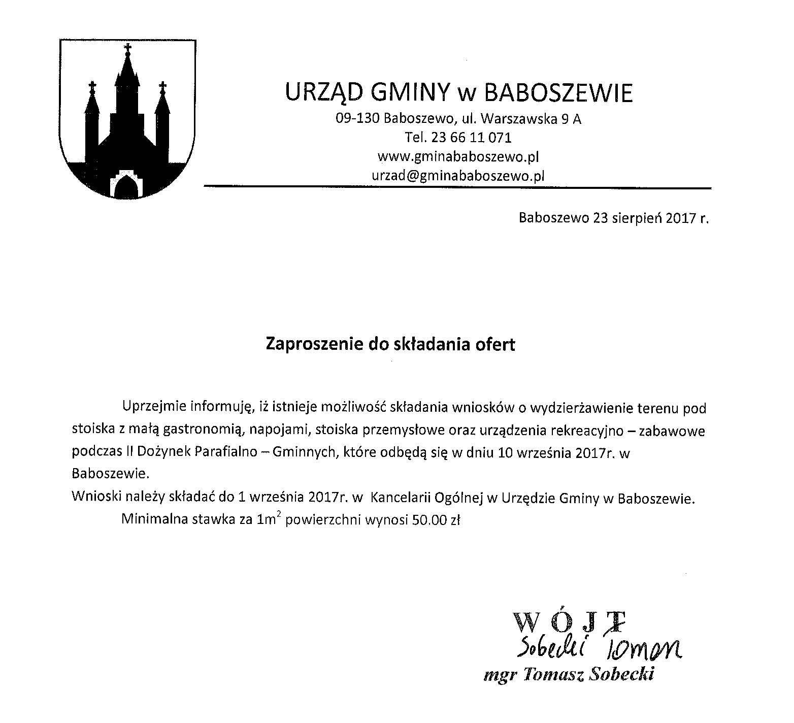 Archiwum 2017 R Urząd Gminy Baboszewo